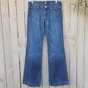 7 for all Mankind Dojo Jeans Sz 27 Wide Leg Blue